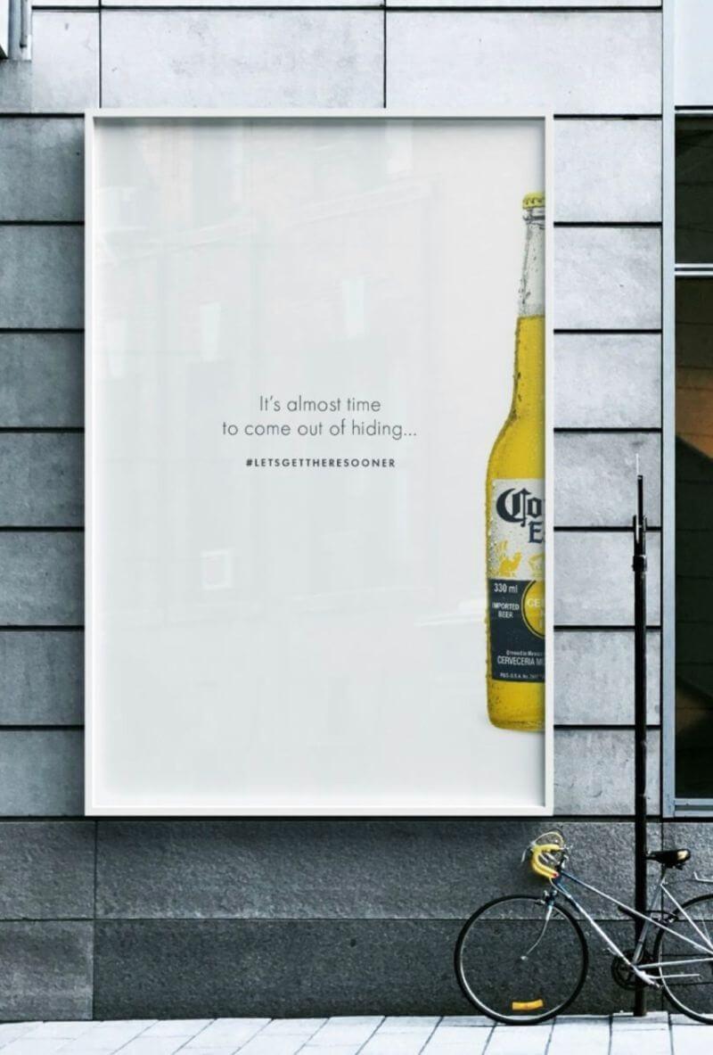 Corona-bier reclame Covid-19