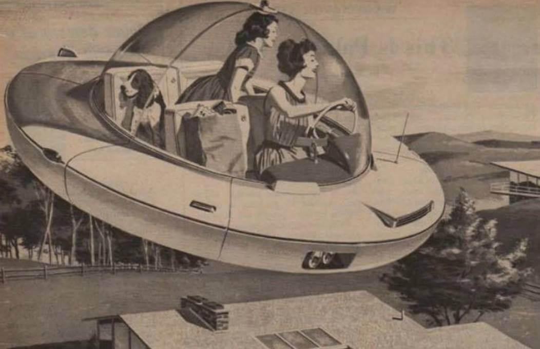 Vliegende auto jaren vijftig