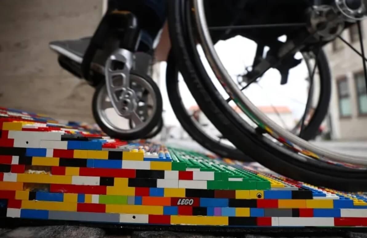 Oprit van Lego