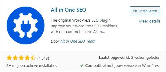 WordPress plug-in installeren