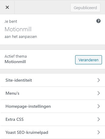 WordPress thema customizen