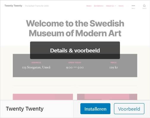 WordPress thema installeren activeren