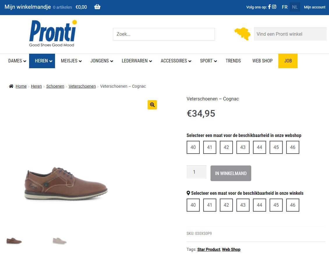 WooCommerce webshop productpagina