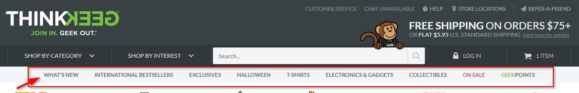 2 WooCommerce webshop navigatieopties