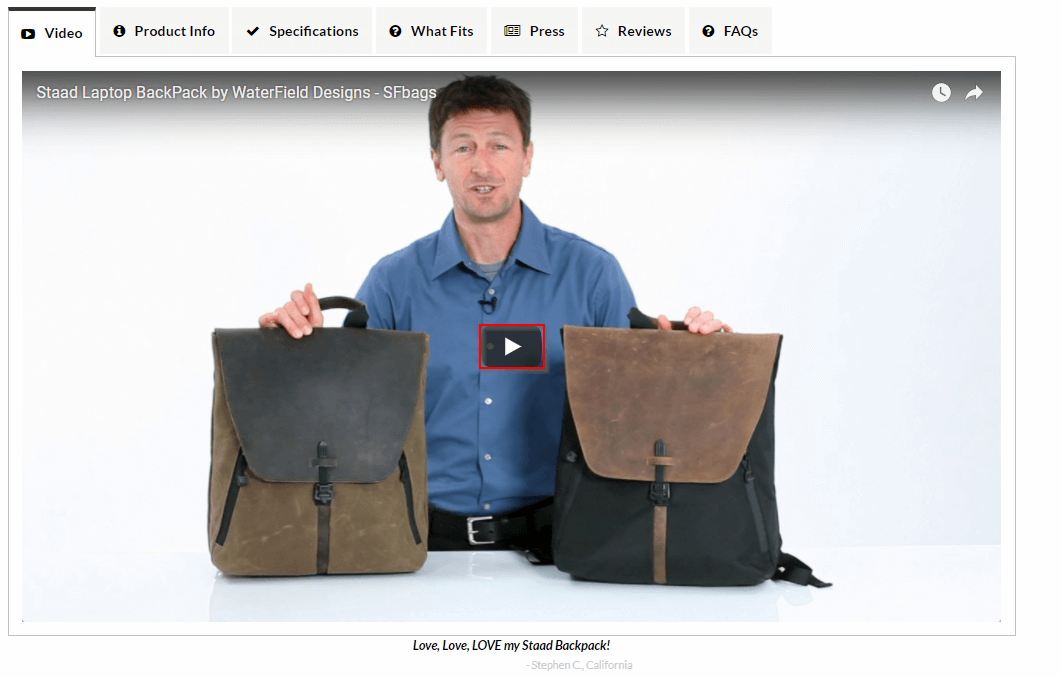 WooCommerce webshop productvideo