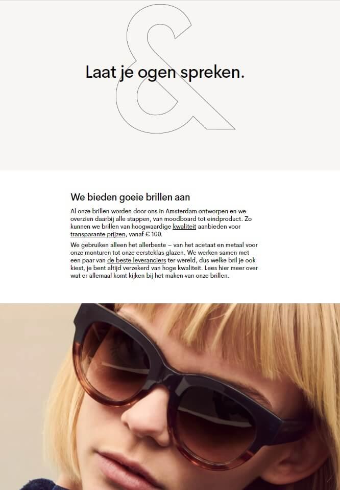 WooCommerce webshop verhaal over ons-pagina