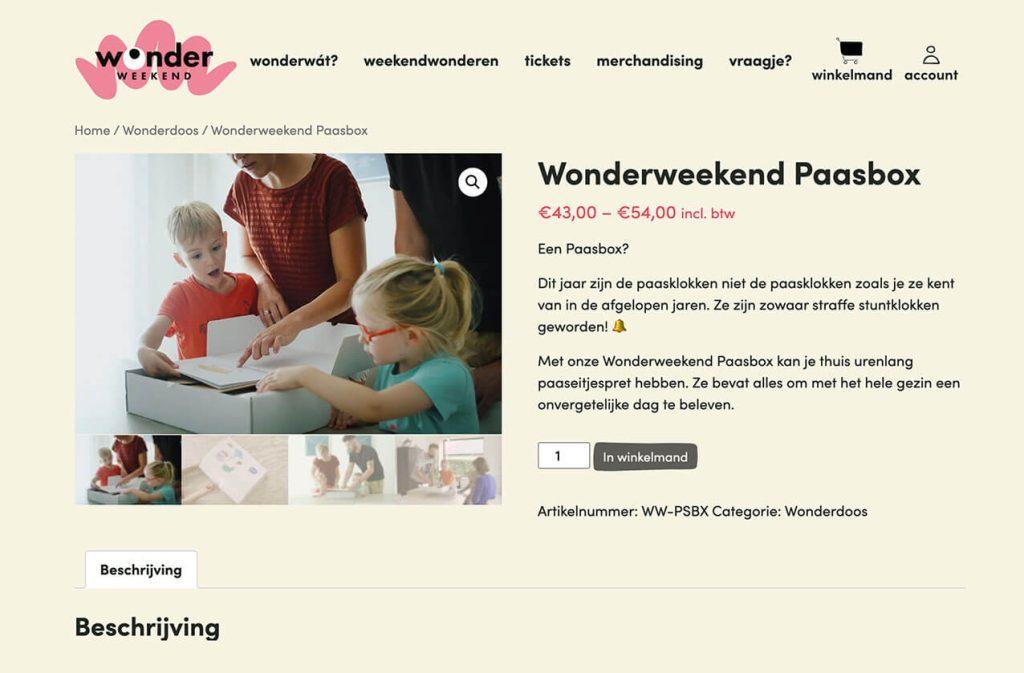 Wonderweekend verkoop online tickets via zijn WordPress site