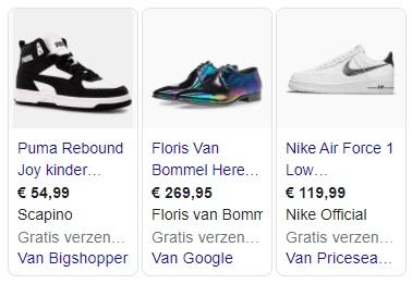 Google Shopping Ads gratis verzendkosten