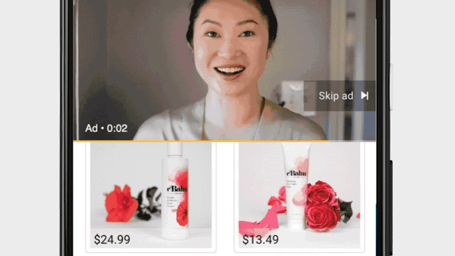 YouTube doorbladerbare product feed