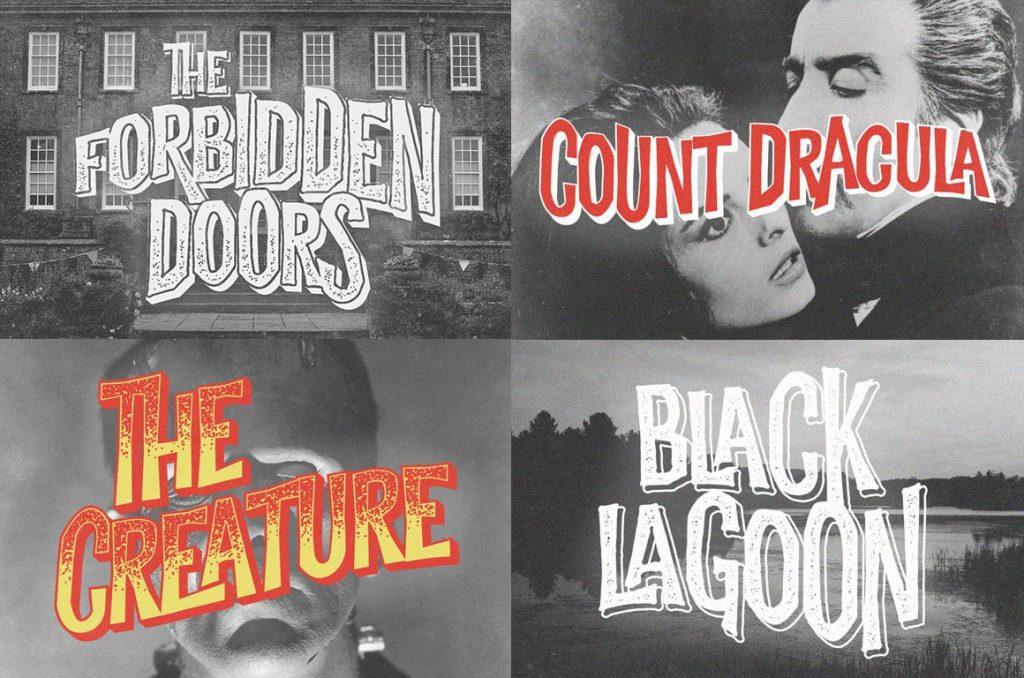 Griezelige lettertypes Halloween