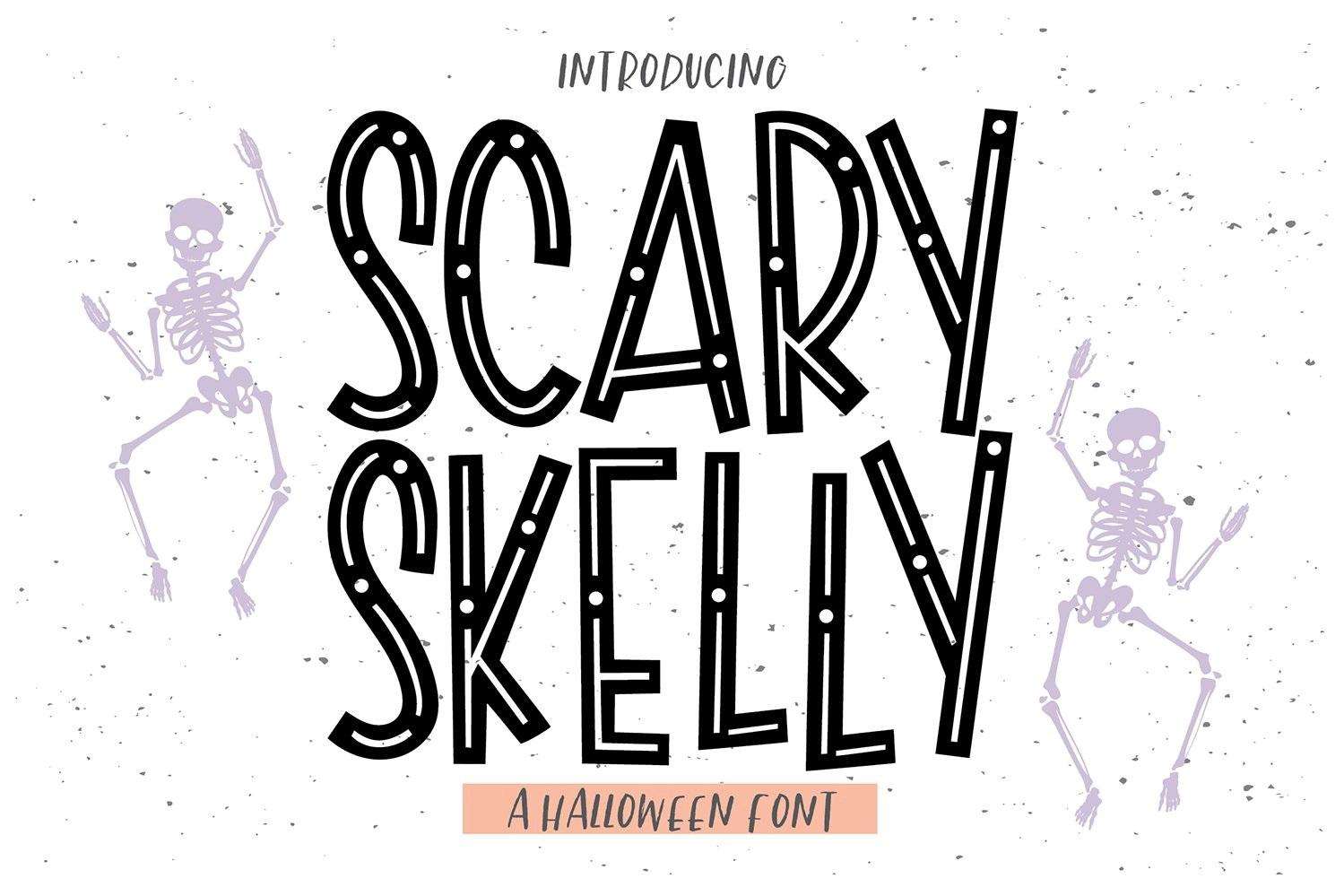 Halloween font skeletten botten
