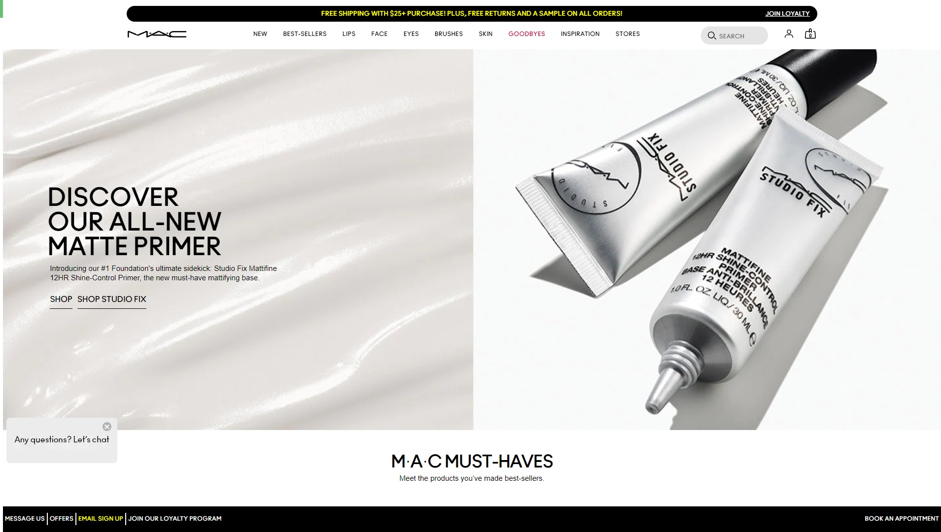 Mooie webwinkel Mäc Cosmetics